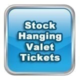 In Stock Hanging Valet Tickets
