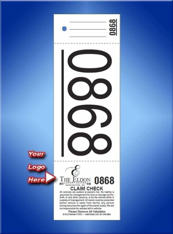3 Part Custom Printed Giant Number Tickets 1,000 #VT3GC