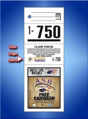 4 Part Custom Color Advertising Tickets #VT4CCLAD