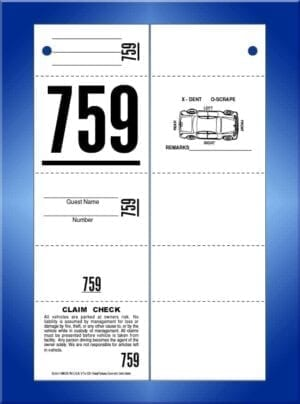 #VT5-CB (5 Part Ticket with Car Damage Diagram on Back 1,000)